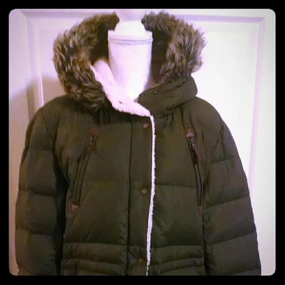 Ralph Lauren Women s Olive Army Green Winter Coat.  M 5b9b4a97aaa5b82ae267db27 919c442e3